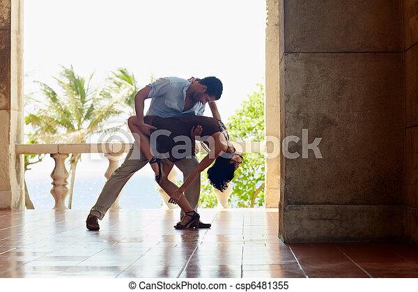 woman táncol, amerikai, ember, latin - csp6481355