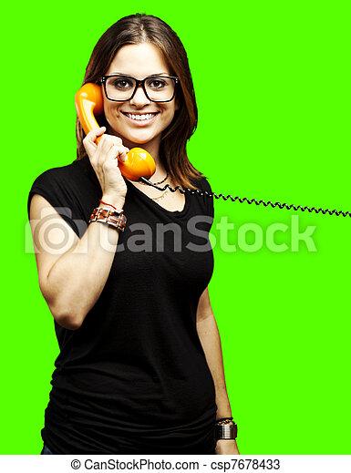 woman talking - csp7678433