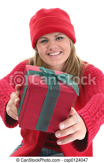 Woman Teen Christmas - csp0124047