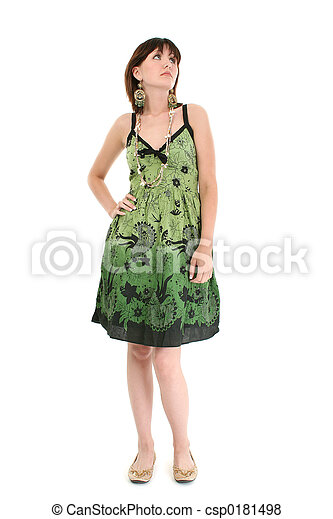 Woman Teen Dress - csp0181498