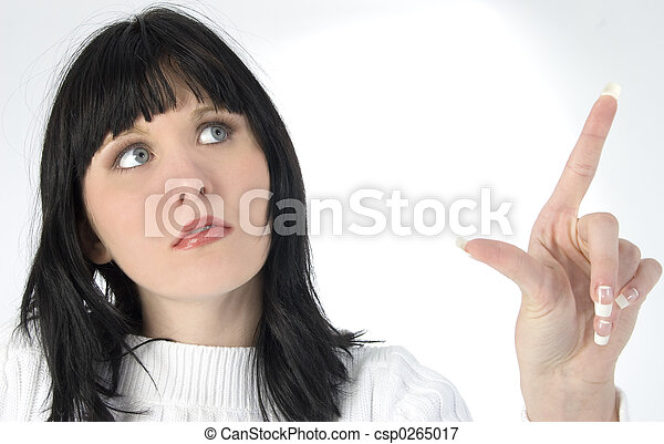 Woman Teen Pointing - csp0265017