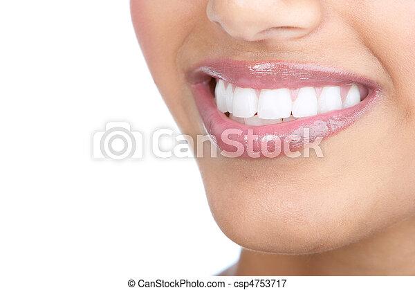 Woman teeth - csp4753717