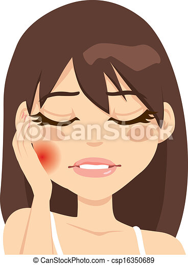 Woman Toothache Pain - csp16350689