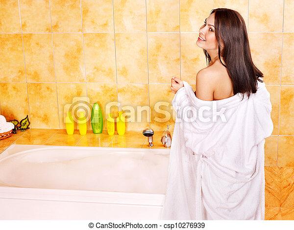 Girl Undressing In Bathroom