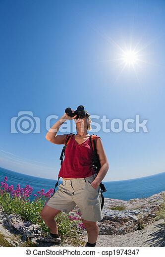 woman, wandert - csp1974347