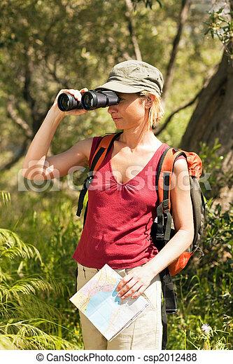 woman, wandert - csp2012488
