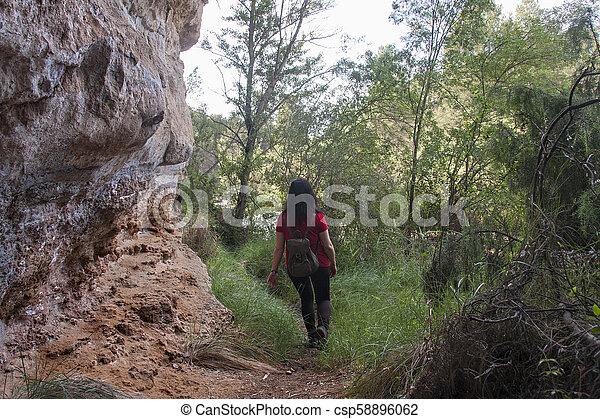 woman, wandert - csp58896062