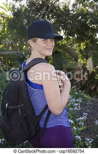 woman, wandert - csp16592754