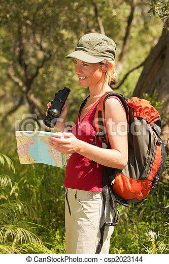 woman, wandert - csp2023144