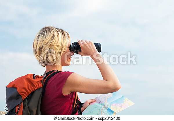 woman, wandert - csp2012480