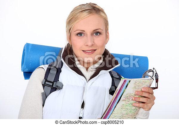 woman, wandert - csp8005210