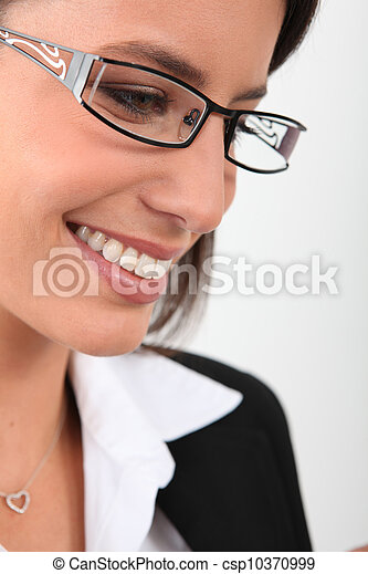 Woman wearing glasses - csp10370999