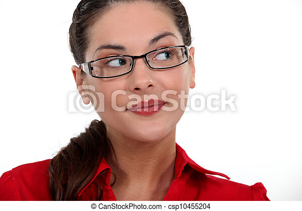 woman wearing glasses - csp10455204