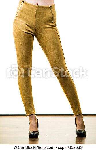 Women wearing tight pants