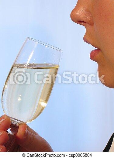 Woman Wine I - csp0005804