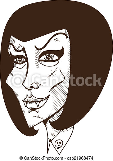 Woman witch face. - csp21968474