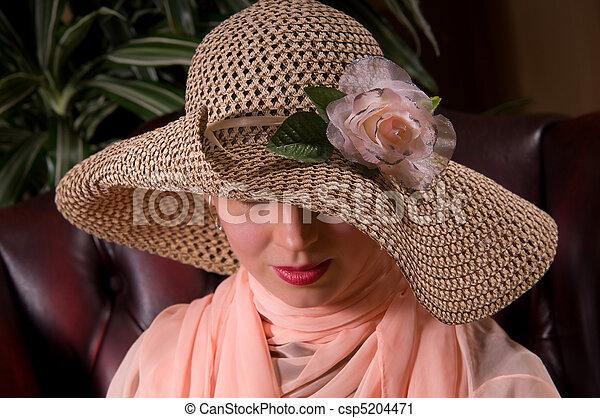woman with a beautiful headdress - csp5204471