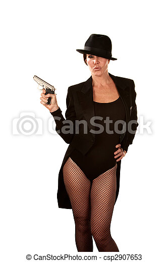 Woman with a Pistol - csp2907653