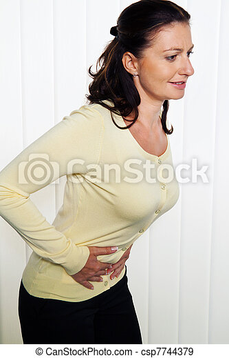 woman with abdominal pain - csp7744379