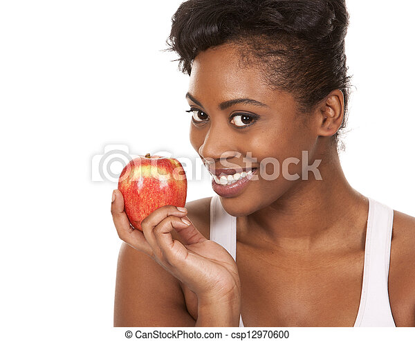 woman with an apple - csp12970600