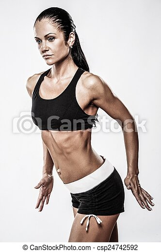 Woman with beautiful athletic body  - csp24742592