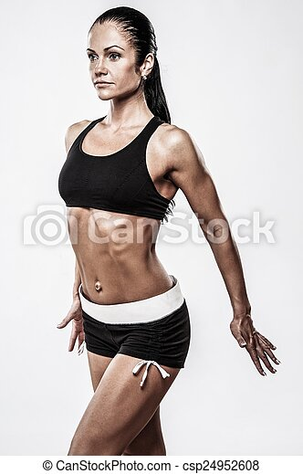 Woman with beautiful athletic body  - csp24952608