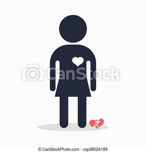 woman with broken heart - csp38024189