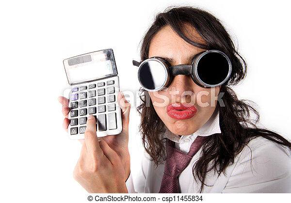 woman with calculator - csp11455834