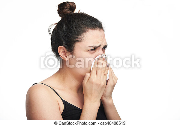 woman with flu - csp40408513