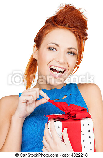 woman with gift box - csp14022218
