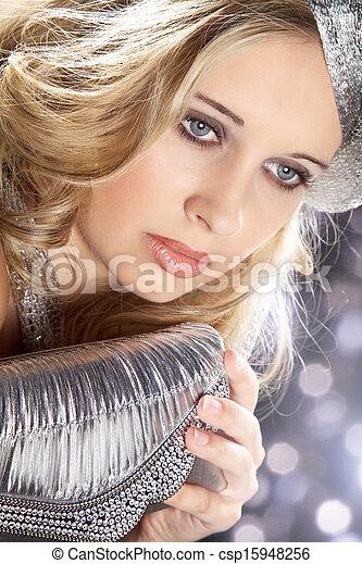 woman with handbag - csp15948256