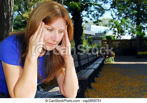 Woman with headache - csp0859751