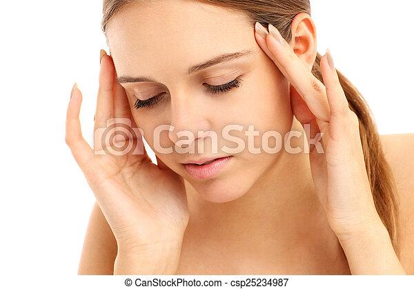 Woman with headache - csp25234987
