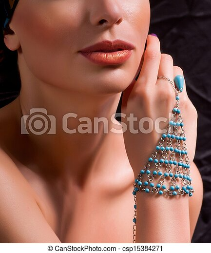woman with jewelry - csp15384271