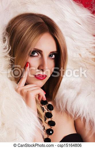 woman with jewelry precious  - csp15164806