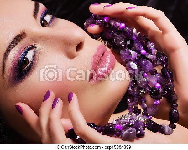 woman with jewelry precious  - csp15384339