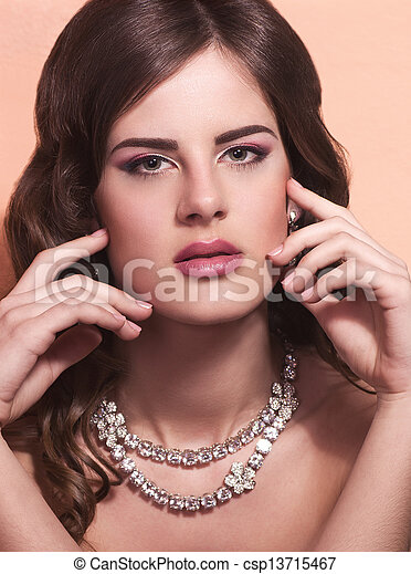 woman with jewelry  - csp13715467