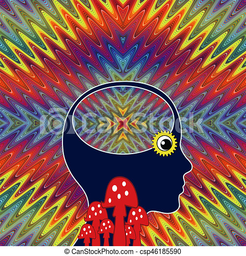 Woman with LSD Flashback - csp46185590