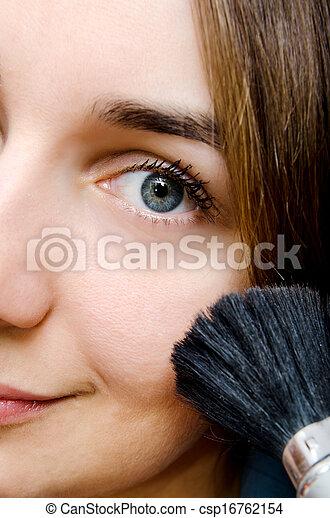 woman with mascara - csp16762154