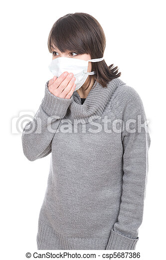 woman with mask - csp5687386