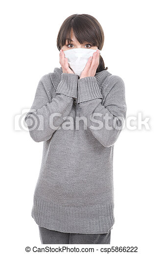woman with mask - csp5866222