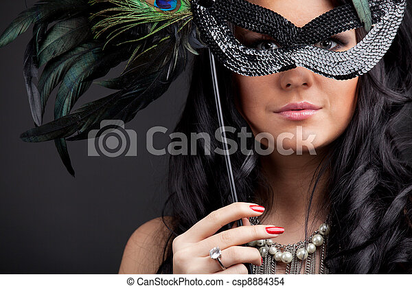 Woman with mask - csp8884354