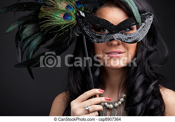 Woman with mask - csp8907364