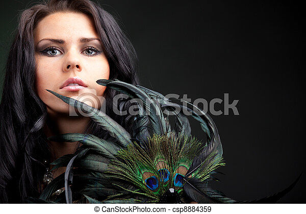 Woman with mask - csp8884359
