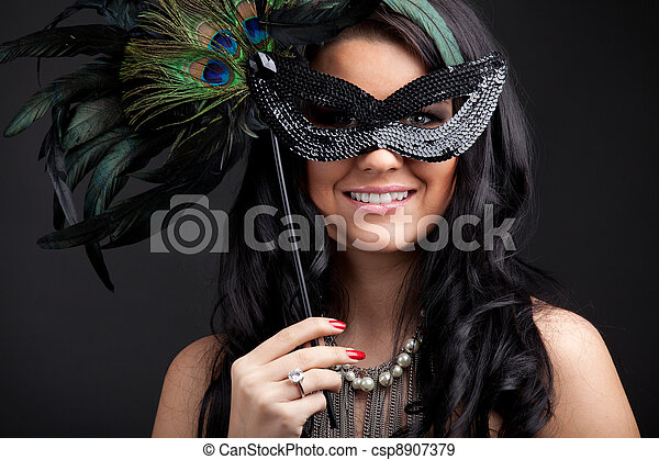 Woman with mask - csp8907379