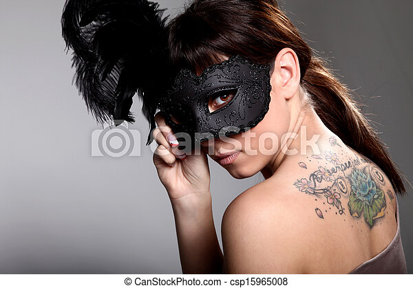 woman with mask - csp15965008