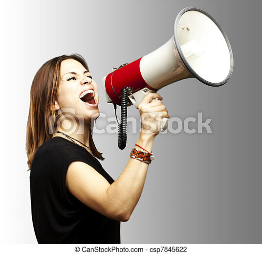woman with megaphone - csp7845622