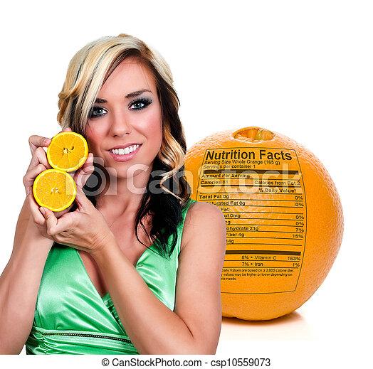 Woman with Orange - csp10559073