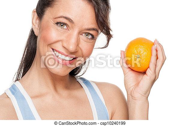 Woman with orange - csp10240199