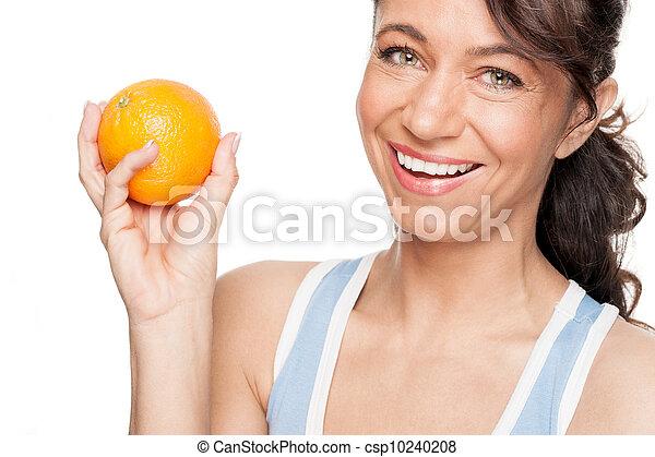 Woman with orange - csp10240208